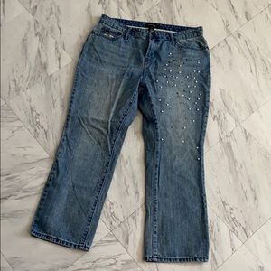 Who What Wear Embellished Mom Jean